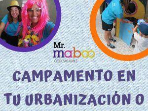Campamento de verano para niños en tu urbanización o empresa de Málaga con Mr. Maboo