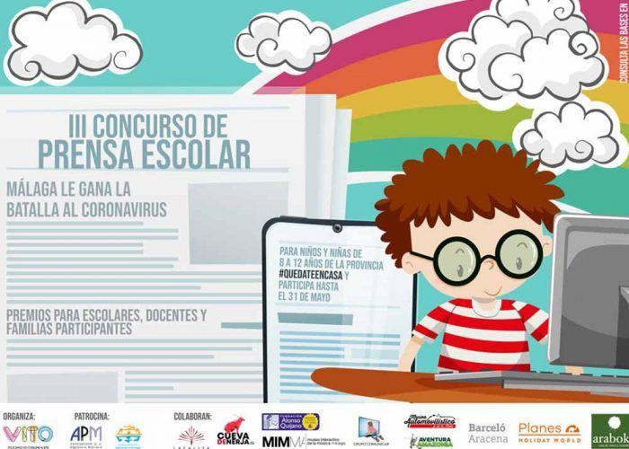 Concurso de prensa escolar para niños en la provincia de Málaga