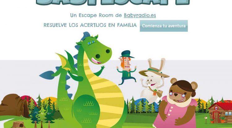 Escape room online y gratis con acertijos para niños con Babyradio