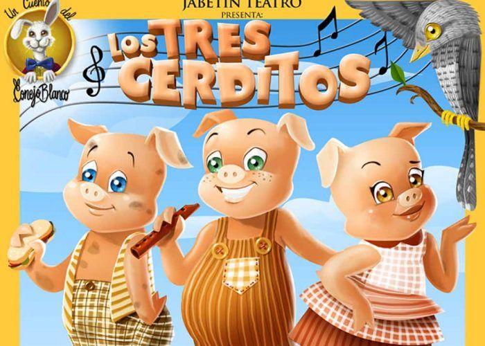 Karaoke y teatro para niños 'Los tres cerditos' online y gratis con Jabetín Teatro este fin de semana