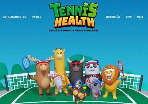 Tennis Health: actividades gratis sobre deporte, geografía y nutrición para niños