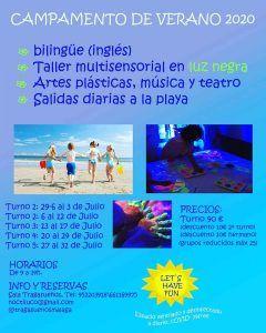 Campamento de verano bilingüe para niños en la sala Tragasueños de Pedregalejo (Málaga)