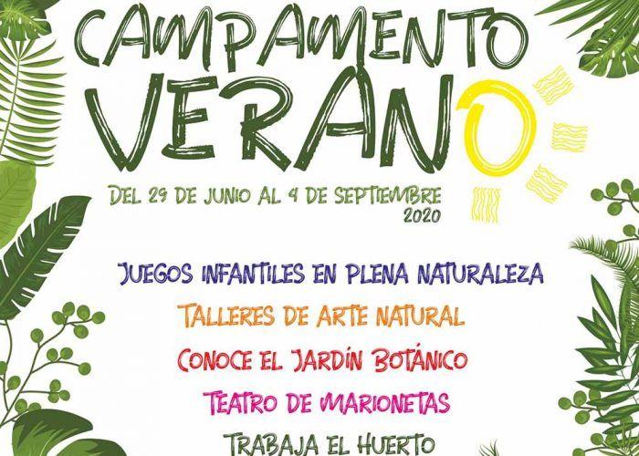 Campamento de verano con talleres y juegos para niños en el Jardín Botánico de Málaga