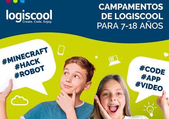 Campamento de verano virtual de programación para niños con Logiscool