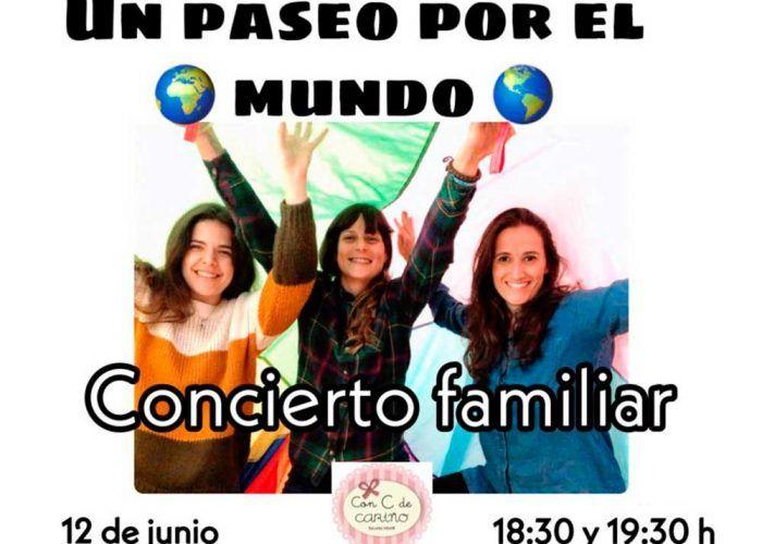 Concierto familiar 'Un paseo por el mundo' en la escuela infantil Con C de Cariño en Málaga
