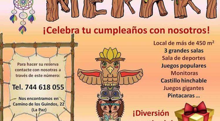 Cumpleaños infantiles en la ludoteca Meraki del barrio de La Paz (Málaga)