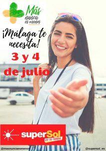 Recogida solidaria de alimentos para Málaga el 3 y 4 de julio en los supermercados Supersol