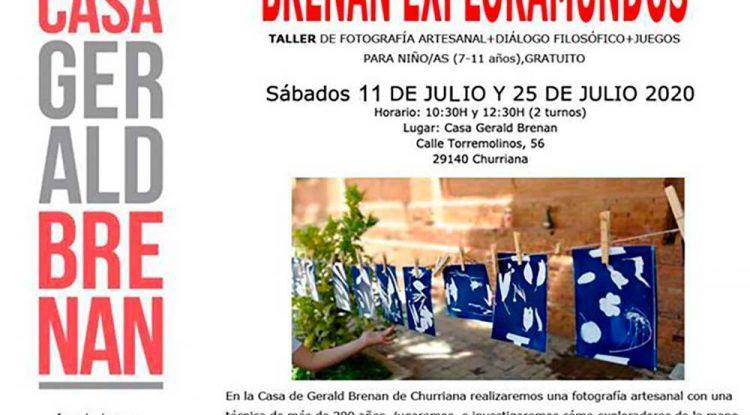 Taller de fotografía para niños en la Casa Gerald Brenan de Churriana
