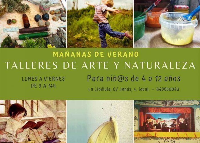 Talleres de arte y naturaleza para niños este verano en La Libélula de Málaga