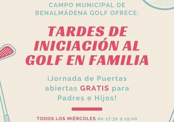 Tardes de iniciación al golf gratis en familia con Benalmádena Golf