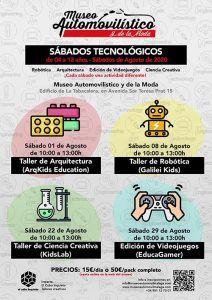 talleres sobre tecnología para niños en el Museo Automovilístico de Málaga