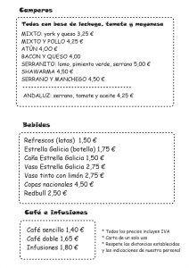 Carta menú de Boom! by Poppins en Alhaurín de la Torre 2