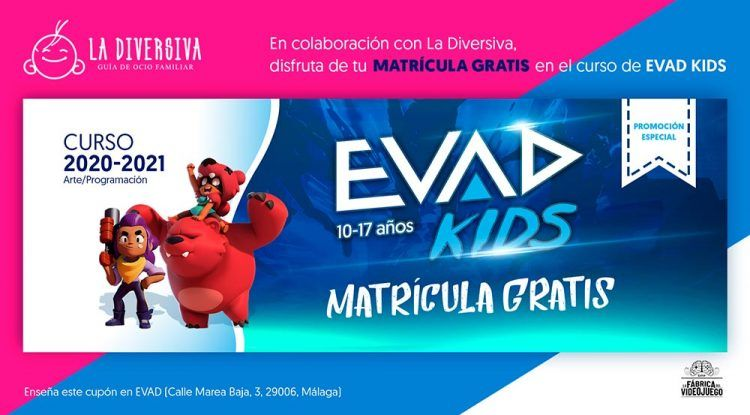 Extraescolares EVAD Kids Málaga con matrícula gratis