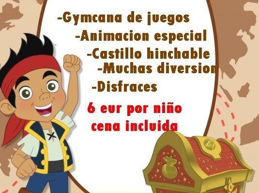 Fiesta pirata infantil en Boom! by Poppins de Alhaurín de la Torre
