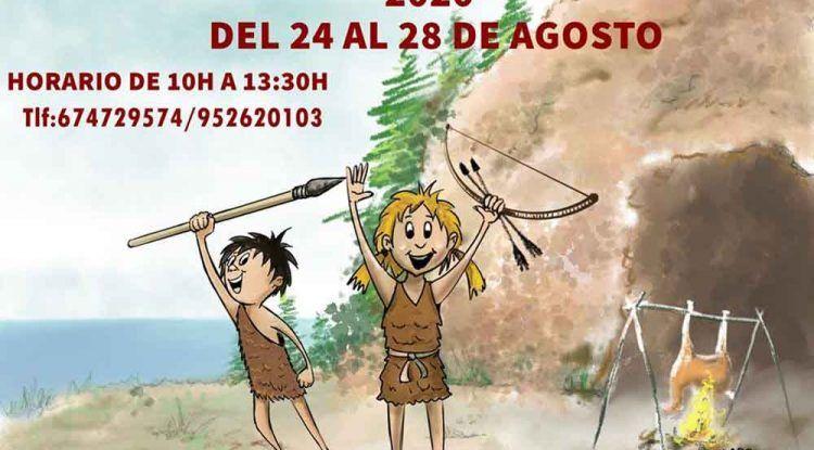 Talleres infantiles sobre arqueología en los Yacimientos de la Araña (Málaga) este agosto