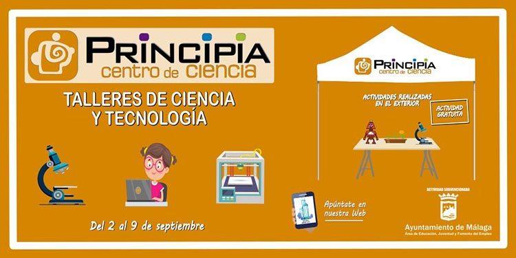 Talleres infantiles gratis de ciencia y tecnología en el Centro Principia Málaga en septiembre