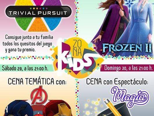 Meriendas y cenas divertidas en familia en Zona Kids de Alhaurín el Grande de jueves a domingo
