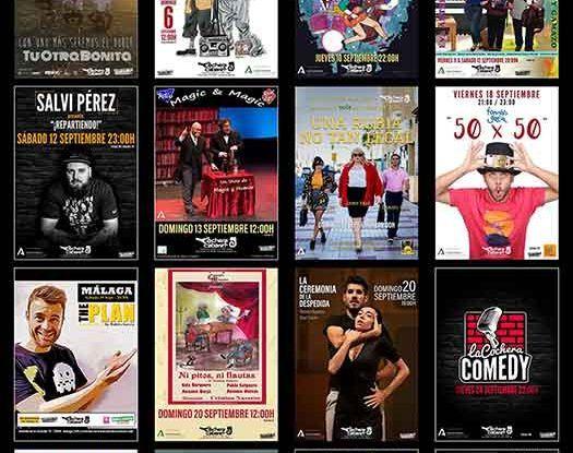 Programación infantil y familiar de La Cochera Cabaret Málaga en septiembre