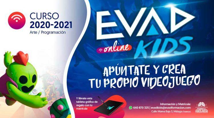 Curso online sobre videojuegos para niños y adolescente con EVAD KIDS