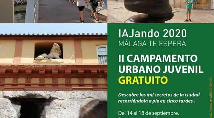 II campamento urbano gratis para jóvenes sobre la ciudad de Málaga con Minichaplin
