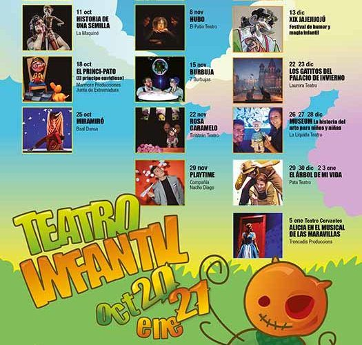 Programación infantil del Teatro Cervantes: Temporada 2020/2021
