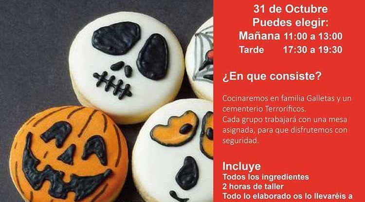 Taller de cocina en familia especial Halloween con Cooking Málaga