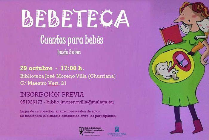 Cuentacuentos para bebés en la Biblioteca José Moreno Villa de Churriana