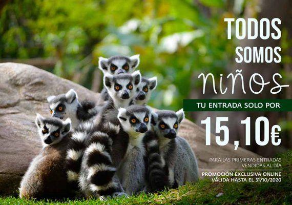 Ahórrate hasta 6€ en tu entrada de Bioparc Fuengirola este octubre