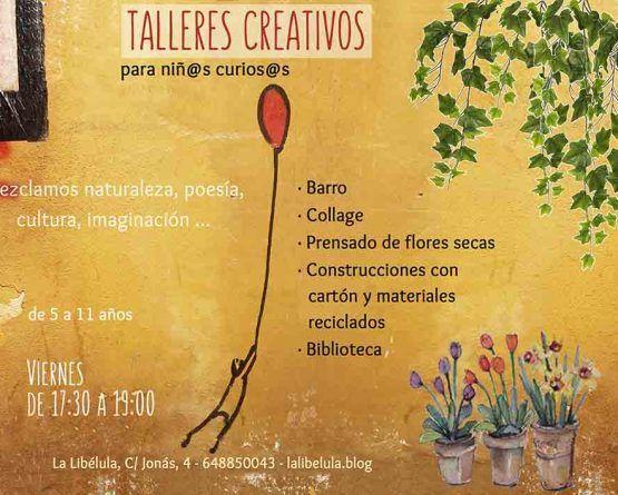 Talleres creativos y meditación para niños en La Libélula Málaga