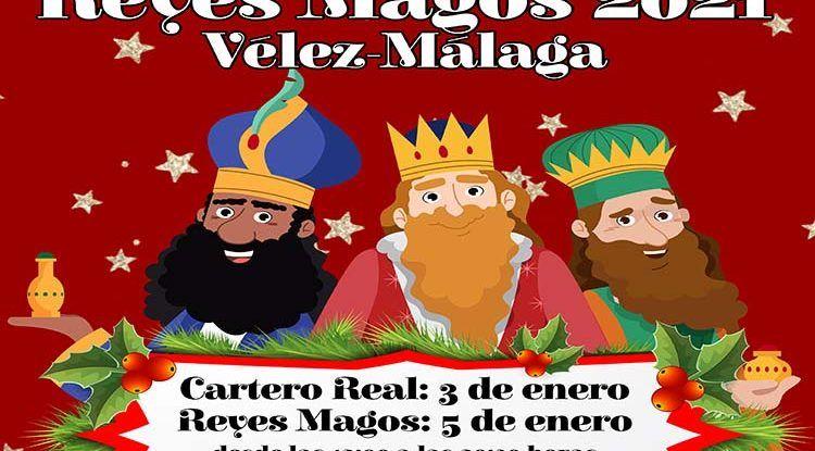 Cabalgata de los Reyes Magos en coche en Vélez-Málaga
