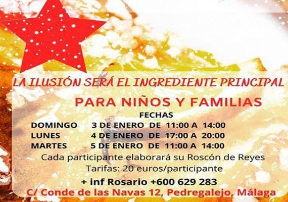 Cocina un roscón de Reyes en el taller para niños de Cooking Málaga
