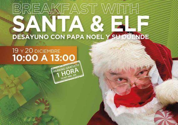 Desayuno con Papá Noel y su duende para toda la familia en Hard Rock Cafe Málaga