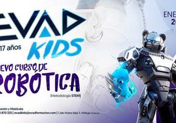 Cursos de robótica y videojuegos para niños y adolescentes con EVAD Kids