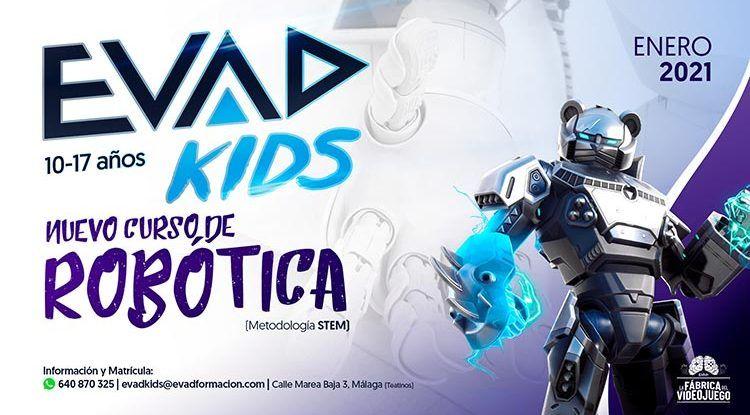 Cursos de robótica, creación de contenidos y videojuegos para niños y adolescentes con EVAD Kids