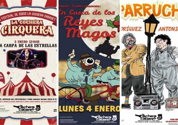 Teatro infantil y familiar en Navidad en La Cochera Cabaret de Málaga