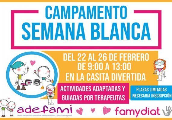 Campamento de semana blanca para niños con diversidad funcional en Málaga