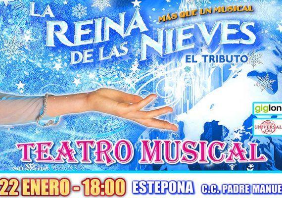 Teatro musical 'La Reina de las Nieves. El Tributo' para toda la familia en Estepona (Málaga)