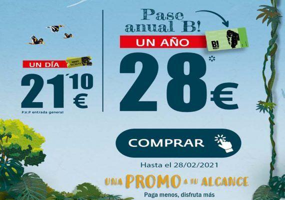 Bioparc Fuengirola rebaja el precio de su pase anual a 28 euros, solo en febrero