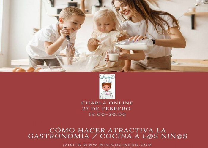 Taller online gratuito para hacer atractiva la gastronomía a los peques