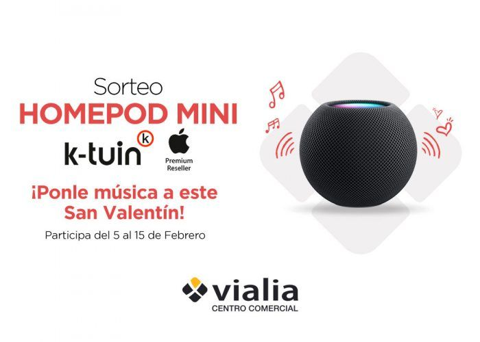 Vialia Málaga sortea un altavoz 'Homepod Mini' por San Valentín