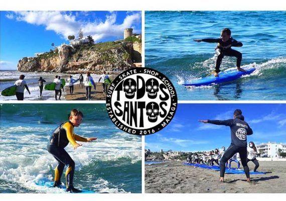 Campamento de surf por Semana Blanca para niños y adolescentes en el Rincón de la Victoria