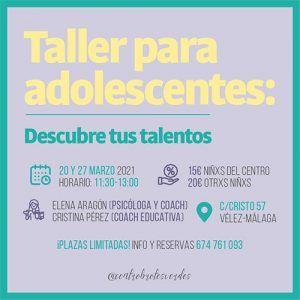 Consigue una sesión de coaching gratis y descuentos para talleres en Centro Brotes Verdes de Vélez-Málaga