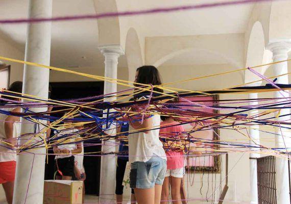 Talleres de arquitectura creativa por Semana Blanca para niños en el Museo Thyssen Málaga