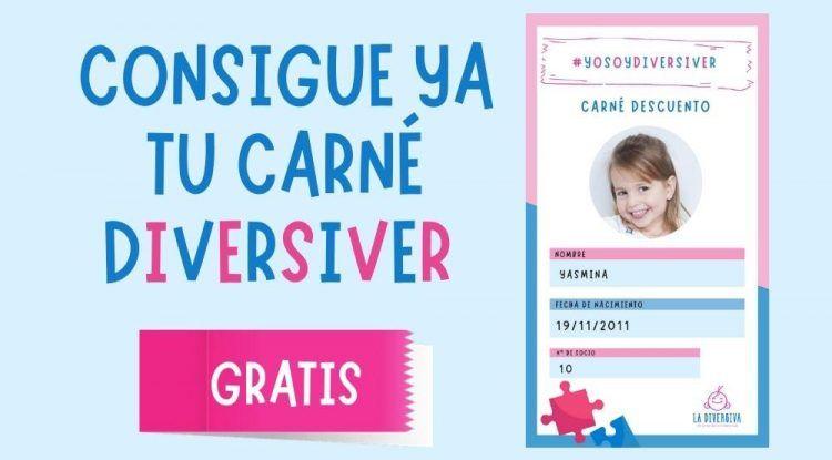 Consigue gratis el carné de La Diversiva y consigue descuentos