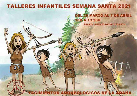 Talleres por Semana Santa para los peques en los Yacimientos Arqueológicos de La Araña