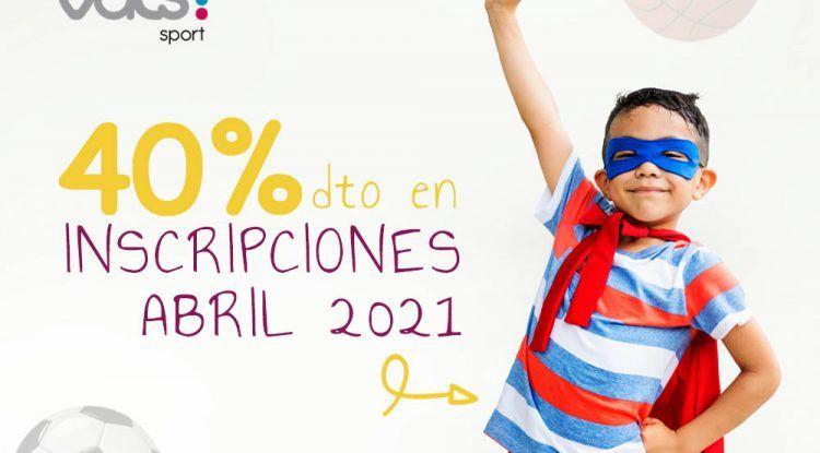 Descuento del 40% al contratar en abril el campamento de verano de Vals Sport en Málaga