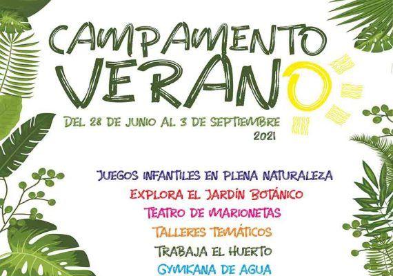 Campamento de verano en el Jardín Botánico La Concepción con actividades al aire libre
