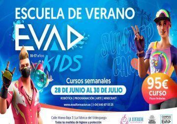 Escuela de verano sobre videojuegos para niños y adolescentes con Evad Kids