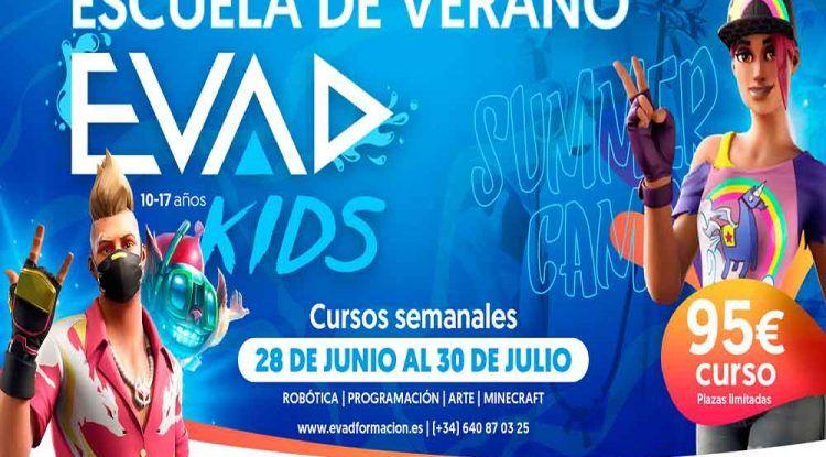 Escuela de verano sobre videojuegos para niños y adolescentes con Evad Kids en Málaga
