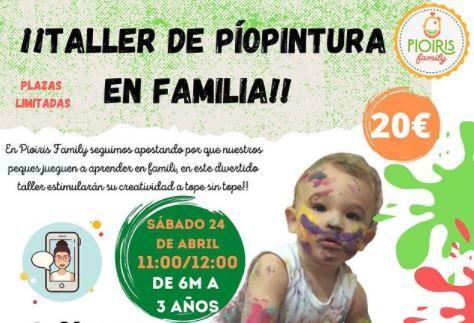 Taller de pintura para bebés con Pioiris Family